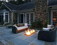 Love the inground fire pit.