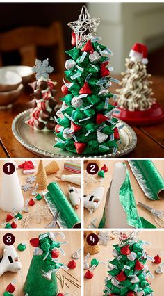 Wonderful and delicious Homemade Christmas Tree Food Inspirations Tips Christmas Candy Crafts, Christmas Tree Food, Homemade Christmas Tree, Christmas Baskets, Noel Christmas, Christmas Goodies, Diy Christmas Gifts, Christmas Treats, Simple Christmas