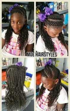 Beautiful braids for a little girl