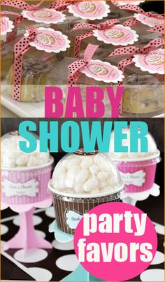 A fun and creative favor it essential for party success. Check out these adorable ideas for baby shower party favors: Toilet paper roll favor. What a great money-saving idea! Wrap the roll with cut. Cute Baby Shower Ideas, Baby Shower Party Favors, Baby Shower Games, Baby Shower Parties, Shower Gifts, Baby Shower Decorations, Baby Showers, Shower Bebe, Girl Shower