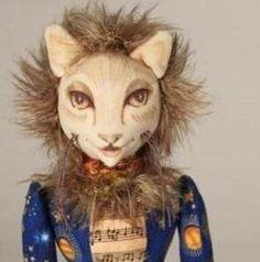 Cat Art Doll - Le Chat de Musique - OOAK - Hand painted face - posable by SylverWoode on Etsy https://www.etsy.com/listing/113340082/cat-art-doll-le-chat-de-musique-ooak