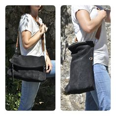 111€ This beautiful tote is made with first quality Spanish leather. Supple and strong with adjustable brown leather strap and zipper closure is