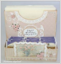 Кэндис бумага мир:. Учебник - Салфетка чай коробка /