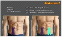 Kinesiology taping instructions for the abdomen #ktape #abdomen #ares