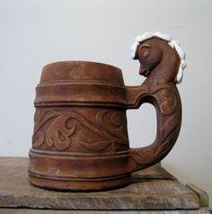 Vintage Ceramic Beer Stein Mug Horse Handle by Suite22 on Etsy, $12.00