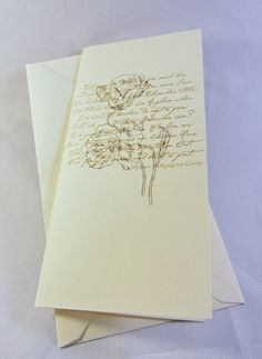 Grußkarte Mohn & Goethe von Frollein KarLa auf DaWanda.com