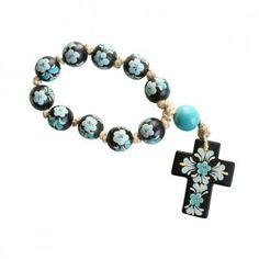 Blue Ceramic Rosary
