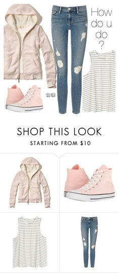 """""""how do you do?"""" by divinitimarie ❤ liked on Polyvore featuring Hollister Co., Converse, H&M, Frame and modern"""