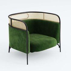 Art Deco Furniture, Rattan Furniture, Home Furniture, Furniture Design, Casa Rock, Best Leather Sofa, Modelos 3d, Contract Furniture, Single Sofa