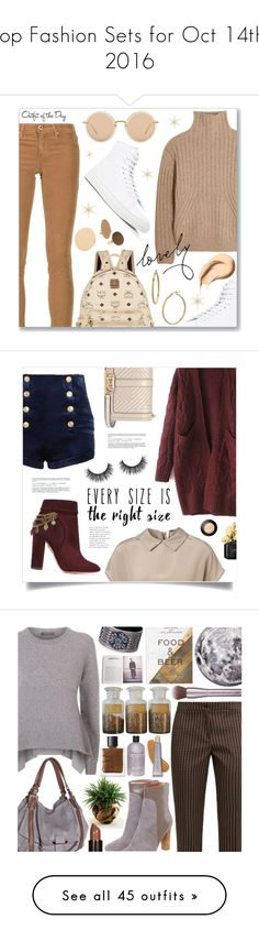 """""""Top Fashion Sets for Oct 14th, 2016"""" by polyvore ❤ liked on Polyvore featuring AG Adriano Goldschmied, MCM, Common Projects, Totême, Linda Farrow, Bony Levy, MANGO, Bobbi Brown Cosmetics, Petit Bateau and ootd"""