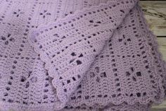 Midwife crochet baby blanket in light purple by EweMadeNew on Easy #callthemidwife #babyblanket
