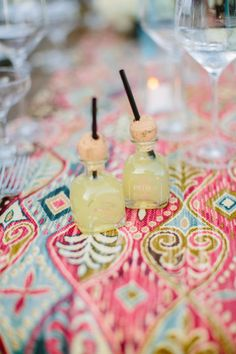 mini margarita #cocktails for guests  Photography by joielala.com  Read more - http://www.stylemepretty.com/2013/09/25/california-bohemian-backyard-wedding-from-joielala/