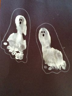 Foot print ghost art