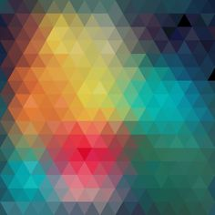 Geometric colorful abstract background vector | Vector Beast