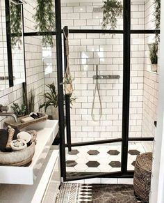 To Expect From White Subway Tile Bathroom 99 White Subway Tile Bathroom, Best Bathroom Tiles, White Tiles, Dream Bathrooms, Amazing Bathrooms, Brown Bathroom, Gold Bathroom, Bathroom Ideas, Subway Tile Bathrooms