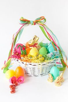 Rainbow Easter basket from Oh Happy Day