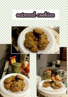 Chewy honey raisins oatmeal cookies