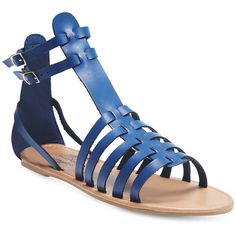 Boho Babe Gladiator Sandals featuring polyvore, fashion, shoes, sandals, blue, bohemian sandals, strap shoes, summer shoes, greek sandals and roman sandals