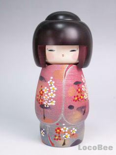 kokeshi dolls | Details about Japanese Wooden Kimono Kokeshi Doll Dolls -Syunso-
