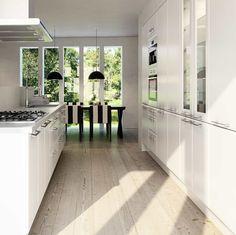 Bilderesultat for herregårdskjøkken sigdal Alcove, Divider, Kitchens, Kitchen Cabinets, Bathtub, Home Appliances, Room, Furniture, Design