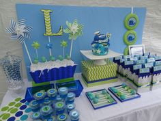 Under the sea party dessert table #underthesea #desserttable