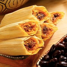 Pork tamales are a popular dish in many Mexican households around Christmas time. The meat is cooked until moist and tender, then steamed in a corn dough. Masa For Tamales, How To Make Tamales, Beef Tamales, Homemade Tamales, Mexican Tamales, Chicken Tamales, Homemade Tortillas, Spanish Dishes, Mexican Dishes