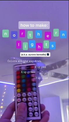 more led lights! how to make northern lights⚡️? on tiktok