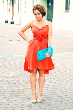 I need this one.  I think it's time for an orange dress (and a blue clutch)