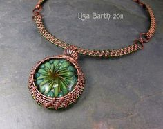 Woven Collar for the Woven Bezel Pendant | JewelryLessons.com