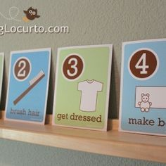 Awesome idea to keep kids on track getting ready for school!