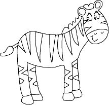 Zebra Coloring Pages 4