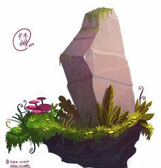 Rock2, Ryan Winch on ArtStation at https://www.artstation.com/artwork/bVO3o