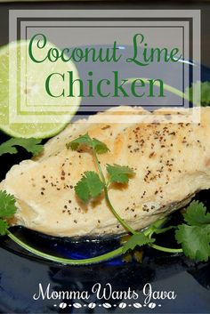 This Coconut Lime Chicken is so easy to make, and it's healthy! It's packed with flavor and just a little spice! Kid-friendly recipe!
