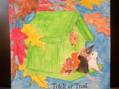 Miniature Painting  Watercolor Trick or Treat by BelaPsychedela