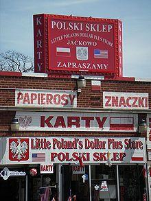 Polish diaspora - Polish store on Milwaukee Avenue in Chicago