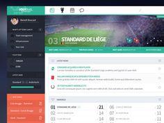 Dashboard for a football app