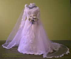 Heirloom Textile Art - Gallery of GownsReplica Miniature Gowns...approximately 11 inches tall