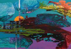 Olga Ivanova Sunset, 100cmx70cm, akryl, płótno, 2014.