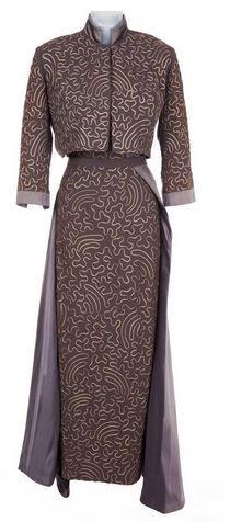 Marilyn Monroe aubergine gray evening dress & Bolero jacket by Travilla for Gentlemen Prefer Blondes