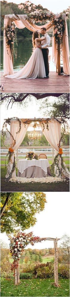 fall wedding arch decoration ideas #weddingideas #weddingdecor #fallwedding #autumnwedding