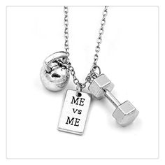 Get this Gym Fitness Weightlifting Strength Charm Necklace and let the world…
