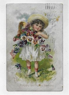Raphael Tuck & Sons Birthday Post Card Series 105 Posted 1908 A Happy BD to You #Birthday