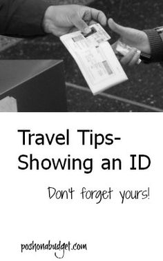 Travel Tips- Do you need an ID?