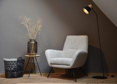 Comfortabele fauteuil Lex met zwart frame - Woonwinkel Alle Pilat
