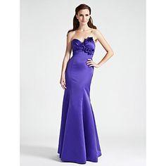Bridesmaid Dress Floor-length Satin Trumpet/Mermaid Strapless/Sweetheart Dress – GBP £ 41.39