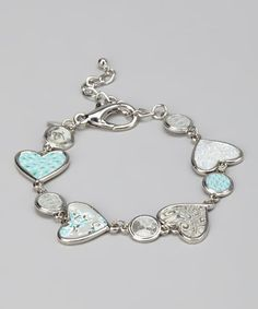 Take a look at this White Sand & Silver Heart Bracelet by Viva Beads on #zulily today! $12