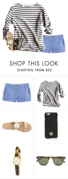 """""""excited for this years memes tbh"""" by serenag123 ❤ liked on Polyvore featuring J.Crew, Jack Rogers, Tory Burch, Kate Spade, Ray-Ban and Kendra Scott"""