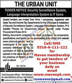 Get Tenders of your business daily on email. Call now: 0316-6-111-222