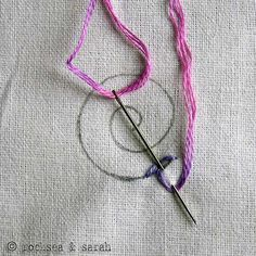 I want to embroider more! this site has instructions and good tutorials for lots of stitches!