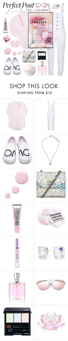 """""""Perfect Pink Pout"""" by hubunch ❤ liked on Polyvore featuring beauty, Xirena, George J. Love, Vans, Kendra Scott, Topshop, Smashbox, Obsessive Compulsive Cosmetics, Lime Crime and Kate Spade"""
